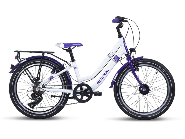 s'cool chiX twin alloy 20 7-S Bambino, white/violett